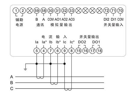 三相电流表的接线图